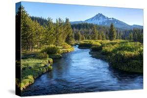 Oregon. Mt. Bachelor and Deschutes River by Jaynes Gallery