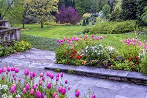 Pennsylvania, Wayne, Chanticleer Garden. Landscape of Springtime Garden by Jaynes Gallery