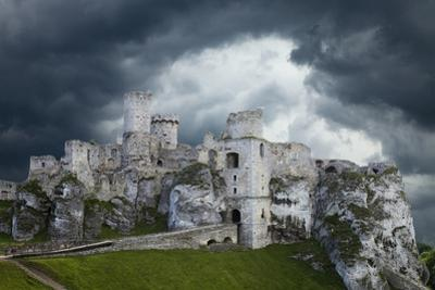 Poland. Composite of Ogrodzieniec Castle by Jaynes Gallery
