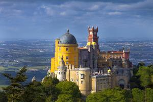 Portugal, Sintra. Overview of Pena Palace by Jaynes Gallery