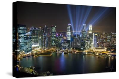Singapore. Downtown Overview at Night