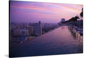 Singapore, Swimming Pool at Sunrise by Jaynes Gallery