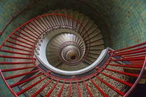 Slovenia, Ljubljana. Spiral staircase seen top down. by Jaynes Gallery