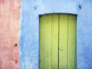 South America, Brazil. Colorful house exterior and door. by Jaynes Gallery