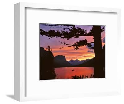 St Mary Lake at Sunset, Glacier National Park, Montana, USA