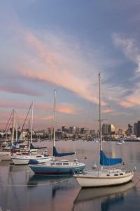 Sunset View of Marina and Downtown, San Diego, California, USA by Jaynes Gallery
