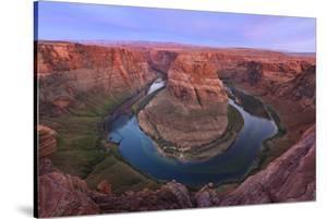 USA, Arizona. Colorado River flows around Horseshoe Bend. by Jaynes Gallery