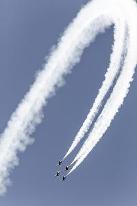 USA, Arizona, Glendale, Luke Air Force Base. F-16 Thunderbirds Flying by Jaynes Gallery