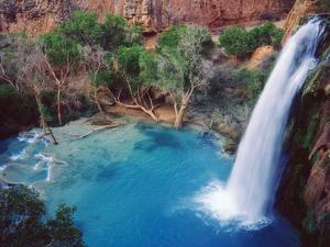 USA, Arizona, Havasupai Reservation. Havasu Falls in the Grand Canyon by Jaynes Gallery