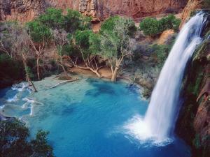 USA, Arizona, Havasupai Reservation. Havasu Falls in the Grand Canyon by Jaynes Gallery