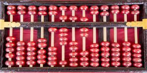 USA, Arizona, Phoenix. Chinese abacus close-up. by Jaynes Gallery