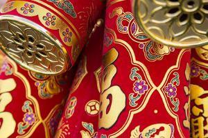 USA, Arizona, Phoenix. Traditional Chinese firecrackers. by Jaynes Gallery