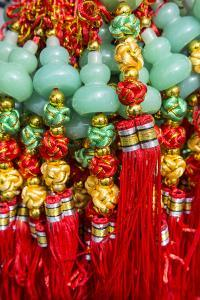 USA, Arizona, Phoenix. Traditional tassels at Chinese Festival. by Jaynes Gallery
