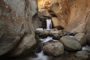 USA, California. Hidden waterfall in The Buttermilks. by Jaynes Gallery
