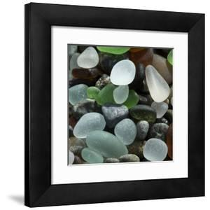 USA, California. Natural sea glass on beach. by Jaynes Gallery