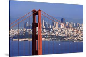 USA, California, San Francisco. Golden Gate Bridge and city. by Jaynes Gallery