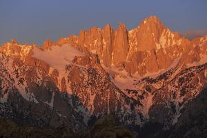 USA, California, Sierra Nevada Mountain Range. Sunrise on Mt. Whitney. by Jaynes Gallery
