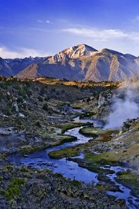 USA, California, Sierra Nevada Mountains. Sunrise on geothermal area of Hot Creek. by Jaynes Gallery
