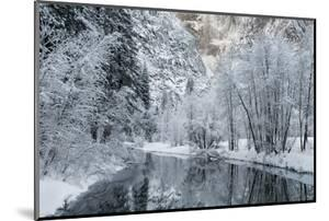 USA, California, Yosemite National Park. Winter Landscape of Merced River by Jaynes Gallery