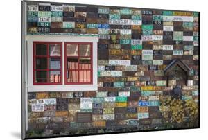 USA, Colorado, Crested Butte. Old License Plates on Building Wall by Jaynes Gallery
