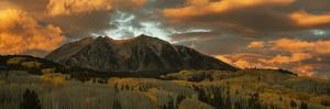 USA, Colorado, Gunnison National Forest. Sunrise on East Beckwith Mountain. by Jaynes Gallery