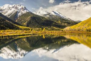 USA, Colorado, Red Mountain Pass. Mountain reflections in Crystal Lake. by Jaynes Gallery