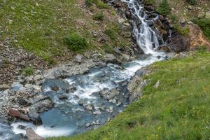 USA, Colorado, San Juan Mountains. Animas River Descends Rocky Hillside by Jaynes Gallery