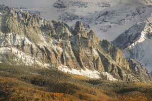 USA, Colorado, San Juan Mountains. Ophir Needles after an autumn snowfall. by Jaynes Gallery