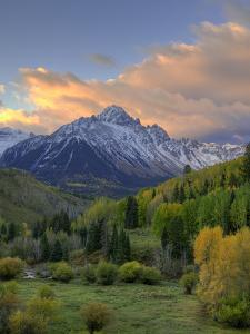 USA, Colorado, San Juan Mountains. Sunrise on mountain and valley landscape. by Jaynes Gallery