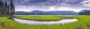 USA, Idaho. St Maries River panoramic. by Jaynes Gallery