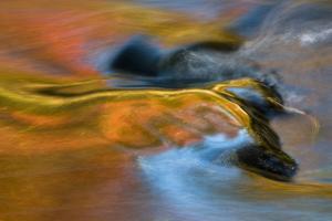 USA, Michigan, Upper Peninsula. Bond Falls Reflections in Fall by Jaynes Gallery
