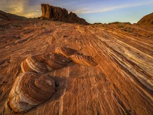 USA, Nevada, Overton, Valley of Fire State Park. Multi-colored rock formation. by Jaynes Gallery