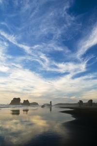 USA, Oregon, Bandon Beach. Sea Stacks at Twilight by Jaynes Gallery