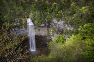 USA, Tennessee. Fall Creek Falls, a Double Waterfall by Jaynes Gallery