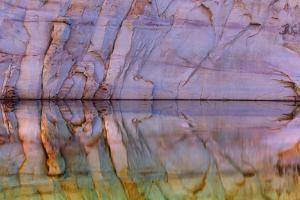 USA, Utah, Glen Canyon Nra. Abstract Reflection of Sandstone Wall by Jaynes Gallery