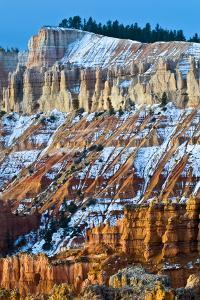 USA, Utah. Snowy Hoodoo Formations in Bryce Canyon National Park by Jaynes Gallery