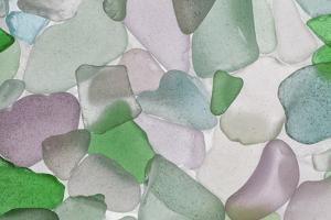 USA, Washington State, Seabeck. Sea glass close-up. by Jaynes Gallery