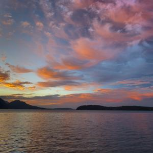 USA, Washington State, Seabeck. Sunset over Hood Canal. by Jaynes Gallery