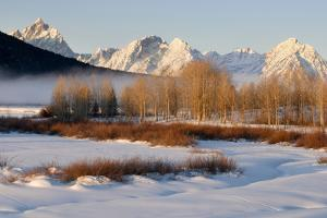 USA, Wyoming, Grand Tetons National Park. Oxbow Bend in Winter by Jaynes Gallery