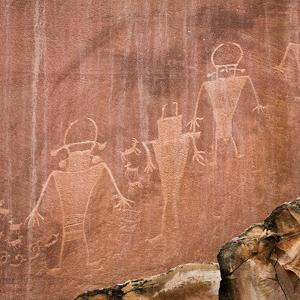 Utah, Capitol Reef National Park. Fremont Pictoglyph Panel by Jaynes Gallery