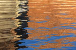 Utah, Glen Canyon Nra. Abstract of Cliff Reflection in Lake Powell by Jaynes Gallery