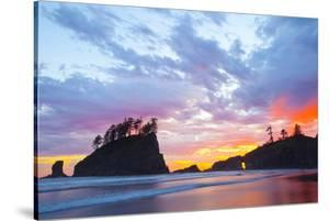 Washington, Olympic National Park. Second Beach at Sunset by Jaynes Gallery