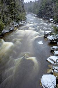 West Virginia, Blackwater Falls State Park. Blackwater River Rapids in Winter by Jaynes Gallery