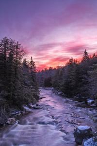 West Virginia, Blackwater Falls State Park. Sunrise on Blackwater River by Jaynes Gallery