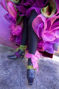Woman's Legs and Shoes Dressed for Carnival, Venice, Italy by Jaynes Gallery