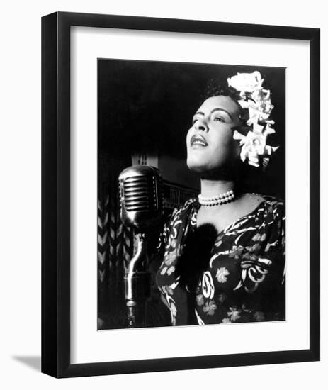 Jazz and Blues Singer Billie Holiday (1915-1959) in the 40's--Framed Art Print