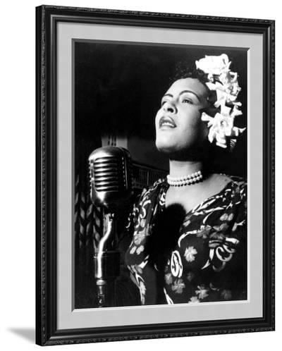Jazz and Blues Singer Billie Holiday (1915-1959) in the 40's--Framed Photographic Print