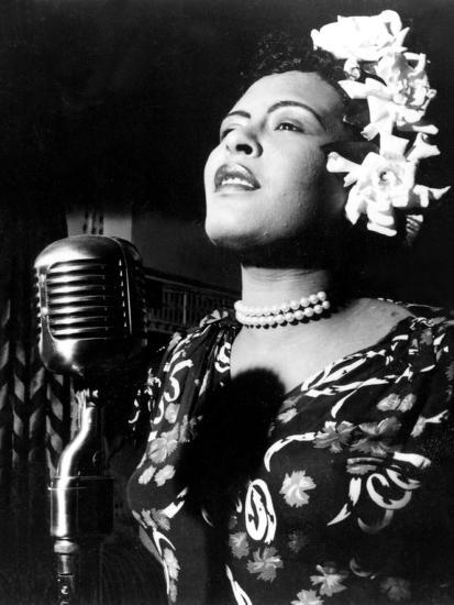 Jazz and Blues Singer Billie Holiday (1915-1959) in the 40's--Photo