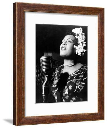 Jazz and Blues Singer Billie Holiday (1915-1959) in the 40's--Framed Photo