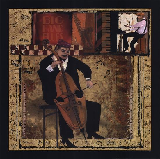 Jazz Cello-CW Designs, Inc^-Art Print